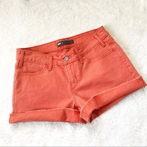 🌹Levi's Orange Cut Off Denim Shorts
